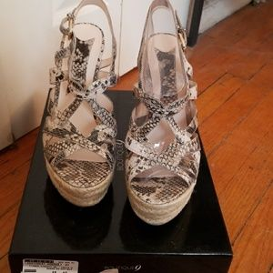 Boutique 9 Snakeskin Leather Wedge